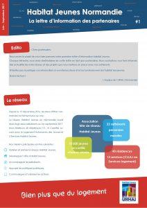 Lettre d'info Habitat Jeunes Normandie