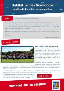 Lettre d'information partenaires - URHAJ Normandie